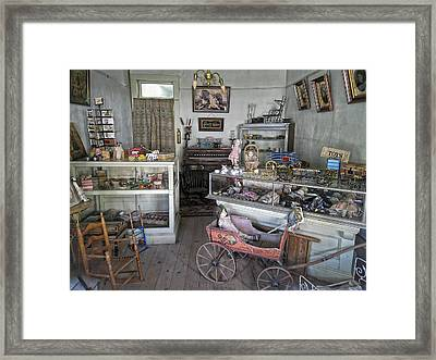 Victorian Toy Shop - Virginia City Montana Framed Print