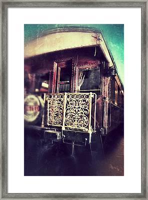 Victorian Train Car Framed Print by Jill Battaglia