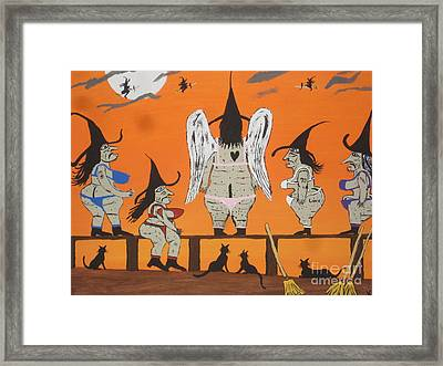 Victoria's Secret Witches Framed Print by Jeffrey Koss