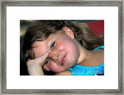 Victorias Smile Framed Print by Diana Mary Sharpton