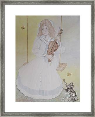 Victoria's Violin Framed Print by Patti Lennox