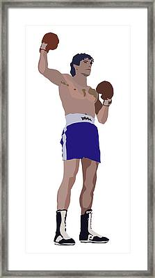 Victorious Boxer Framed Print by Robert Bissett
