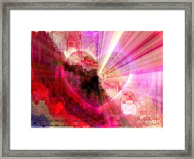 Framed Print featuring the digital art Victorious Heart by Fania Simon