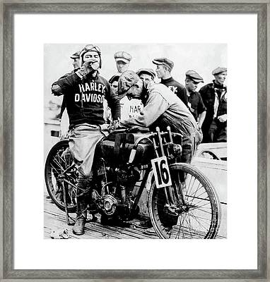Victory At The Track Framed Print