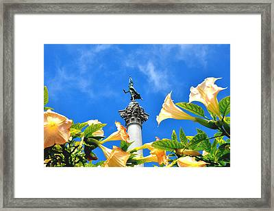 Victory Figurine In Union Square San Francisco Framed Print