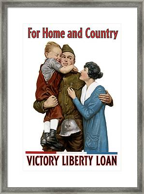 Victory Liberty Loan - World War One  Framed Print by War Is Hell Store