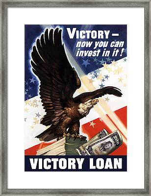 Victory Loan Bald Eagle Framed Print