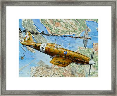 Victory Over Malta Framed Print by Charles Taylor