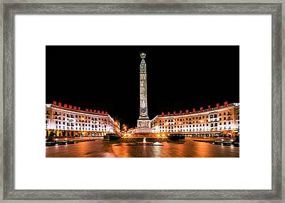 victory Square Framed Print