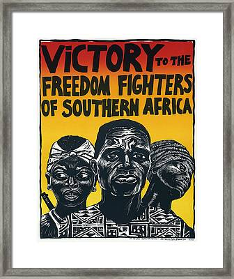 Victory To The Freedom Fighters Of South Africa C. 1977 Framed Print