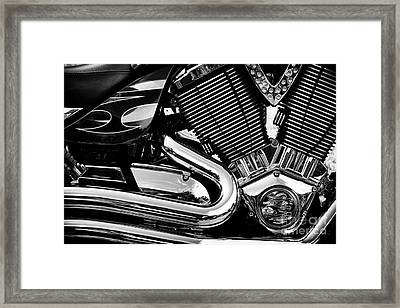 Victory V Twin Abstract Framed Print by Tim Gainey