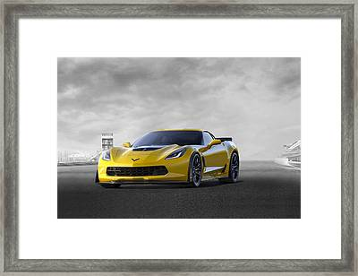 Framed Print featuring the digital art Victory Yellow  by Peter Chilelli