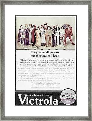 Victrola Advertisement Framed Print by Granger