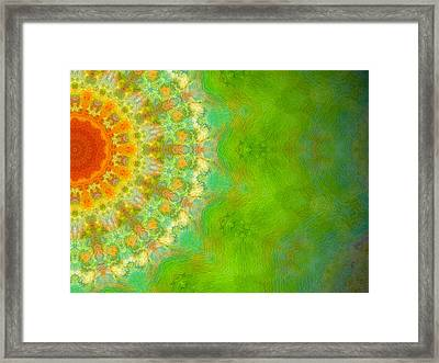 Vida Sol Framed Print by Glorielis Martins