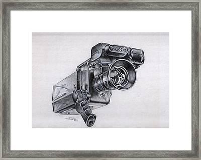 Video Camera, Vintage Framed Print