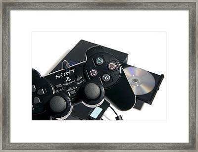Video Game Console Framed Print by Johnny Greig