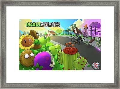 Video Games Plants Vs Zombies                  Framed Print