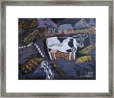Vie Rurale / Rural Life Framed Print by Dominique Fortier