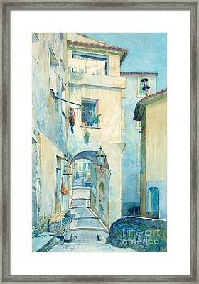 Vieille Ville Menton Framed Print by MotionAge Designs