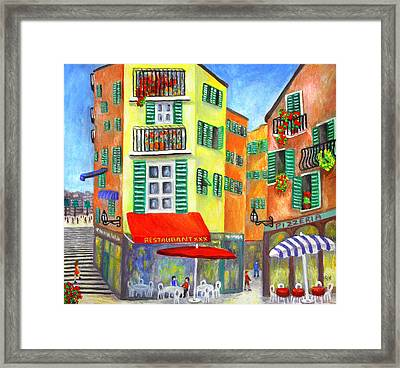 Vieille Ville - Nice Framed Print by Ronald Haber