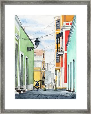Viejo San Juan Framed Print by Tom Dorsz