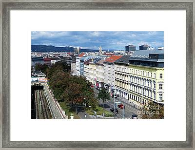 Vienna Beltway Framed Print by Christian Slanec