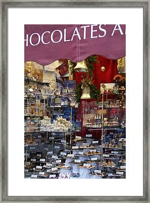 Vienna Chocolatier Shop Framed Print by David Birchall