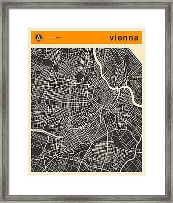 Vienna Map Framed Print