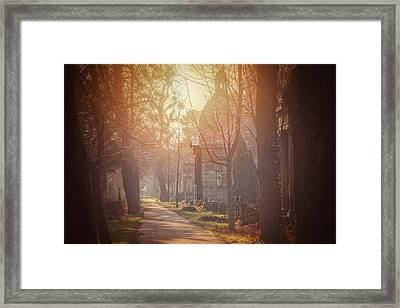 Vienna Zentralfriedhof In Winter  Framed Print by Carol Japp