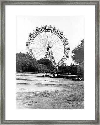 Viennese Giant Wheel Framed Print