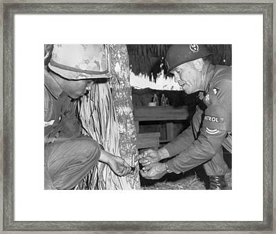 Viet Cong Booby Trap Framed Print by Underwood Archives