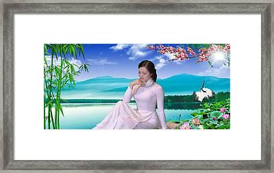 Viet Nam Girl Framed Print
