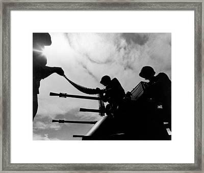 Vietnam Ammo Scene Framed Print by Underwood Archives