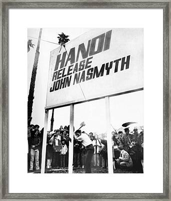 Vietnam Pow Billboard Framed Print by Underwood Archives