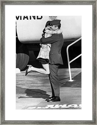 Vietnam Pow Returns Framed Print by Underwood Archives