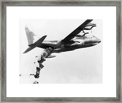 Vietnam Supply Drop Framed Print by Underwood Archives