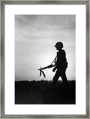 Vietnam Training Exercise Framed Print by Underwood Archives