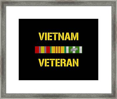 Vietnam Veteran Ribbon Bar Framed Print by War Is Hell Store