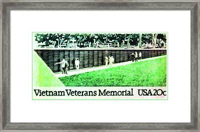 Vietnam Veterans Memorial Framed Print by Lanjee Chee