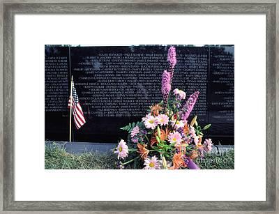 Vietnam Veterans Memorial On Memorial Day Framed Print by Thomas R Fletcher