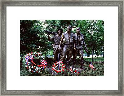 Vietnam Veterans Memorial  Framed Print