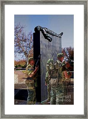 Vietnam Veterans Memories - In Oil Framed Print