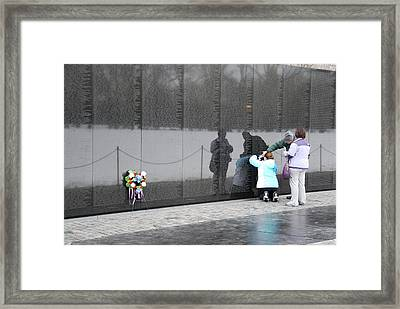 Vietnam Wall Family Framed Print