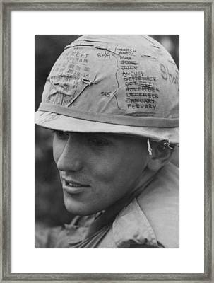 Vietnam War. A Us Army Sky Trooper Framed Print