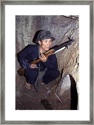 Vietnam War, A Viet Cong, Soldier Framed Print