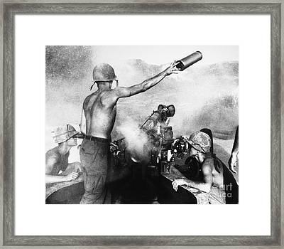 Vietnam War: Artillery Framed Print by Granger