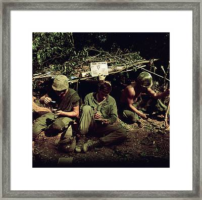 Vietnam War. Home Is Where You Dig Framed Print