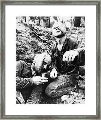 Vietnam War Medic 1966 Framed Print by Granger