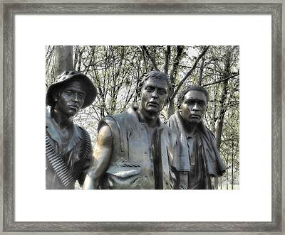 Framed Print featuring the photograph Vietnam War Memorial by Nigel Fletcher-Jones