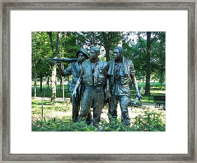 Vietnam War Memorial Statue Framed Print